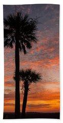 Sunset Over Marsh Bath Towel