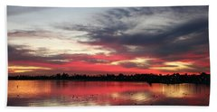 Sunset Over Mission Bay  Hand Towel