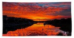 Sunset Over Morgan Creek - Wild Dunes Resort Hand Towel