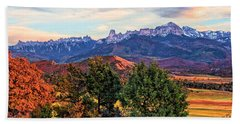 Sunset Over Owl Creek Pass Bath Towel