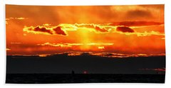 Sunset Over Sound Hand Towel