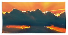 Sunset Over Southern Ohio Bath Towel