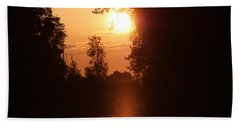 Sunset Over The Canals Hand Towel