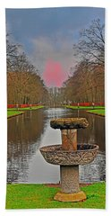 Sunset Over The Garden Bath Towel