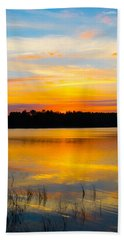 Sunset Over The Lake Hand Towel by Parker Cunningham