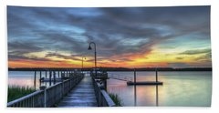 Sunset Over The River Bath Towel