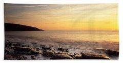 Sunset Over The Sea, Celtic Sea, Wales Hand Towel