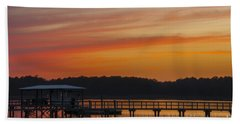Sunset Over The Wando River Hand Towel by Dale Powell
