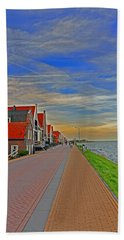 Sunset Over Volendam Bath Towel