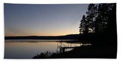 Sunset Over Yellowstone Lake Hand Towel