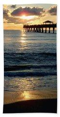 Sunset Pier Hand Towel