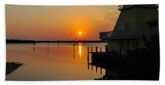 Sunset Reflections Hand Towel by Jim Brage