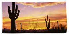 Sunset Saguaro Cactus Saguaro National Bath Towel