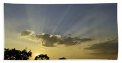 Sunset Sunrays Hand Towel