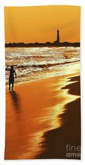 Sunset Surfer Bath Towel