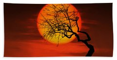 Sunset Tree Hand Towel by Bess Hamiti