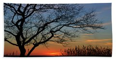 Sunset Tree In Ocean City Md Hand Towel