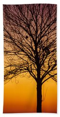 Sunset Tree Hand Towel