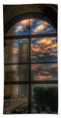 Sunset View Of Chicago Bath Towel