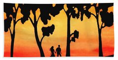 Sunset Walk Hand Towel