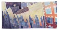 Sunset, Waverly Place, New York City, 1995 Oil On Canvas Hand Towel
