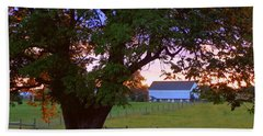Sunset With Tree Bath Towel by Joseph Skompski