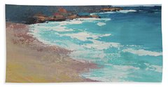 Bath Towel featuring the painting Sunshine Beach And Lions Head Noosa Heads Queensland by Chris Hobel