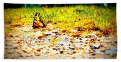 Sunshine Butterfly Hand Towel