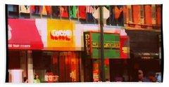 Superheroes Of New York - Midtown In Gotham City Hand Towel