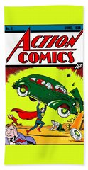 First Edition - Superman Comic Book  Hand Towel