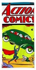 Superman Comic Book -1938 Hand Towel by Doc Braham