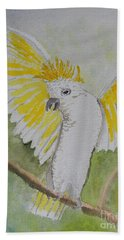 Suphar Crested Cockatoo Bath Towel