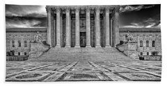 Bath Towel featuring the photograph Supreme Court by Peter Lakomy