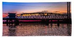 Surf City Swing Bridge Hand Towel