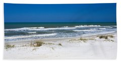 Surf On The Beach, St. Joseph Peninsula Hand Towel by Panoramic Images