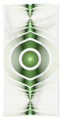 Surface Waves - Green Hand Towel