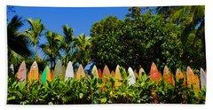 Surfboard Fence - Maui Bath Towel