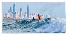 Surfing Burleigh Hand Towel