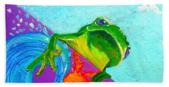 Surfing Froggie Bath Towel