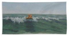 Surfing Golden Bath Towel
