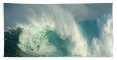 Surfing Jaws 3 Bath Towel