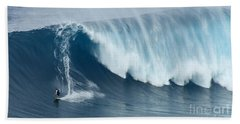 Surfing Jaws 5 Bath Towel by Bob Christopher