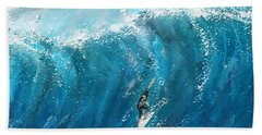 Surf's Up- Surfing Art Bath Towel