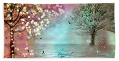 Fairytale Fantasy Trees Surreal Dreamy Twinkling Sparkling Fantasy Nature Trees Home Decor Hand Towel