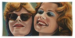 Susan Sarandon And Geena Davies Alias Thelma And Louise Bath Towel