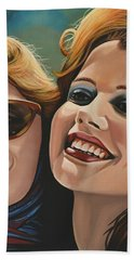 Susan Sarandon And Geena Davies Alias Thelma And Louise Hand Towel