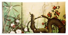 Sunshine In The Garden Hand Towel by Sorin Apostolescu