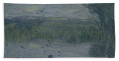 Swallows Oil On Canvas Hand Towel
