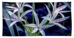 Hand Towel featuring the photograph Swamp Lilies by Steven Sparks