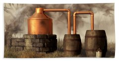 Swamp Moonshine Still Hand Towel by Daniel Eskridge